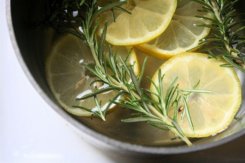 citroen, pan, ethische olie, geurspray